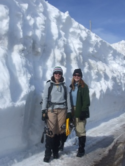 The wall of snow at the border