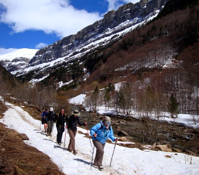 Walking in the Ordesa Valley
