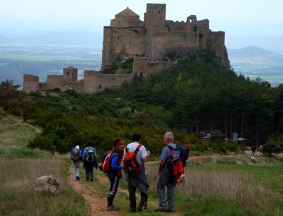 Arriving at Loarre Castle