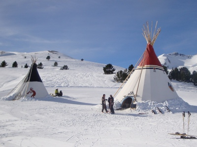 The tipi's at Formigal !
