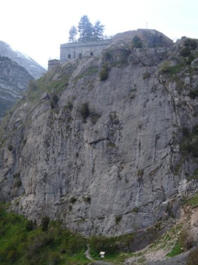 The climbing crag at Coll de Ladrones