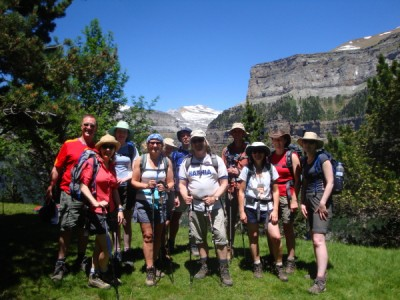 Dougal and his fundraising crew in the Ordesa Valley