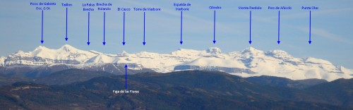 The 3000m border peaks of the Ordesa National Park - click for a bigger image