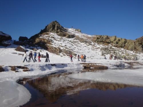 Snowshoeing at Aguas Tuertas