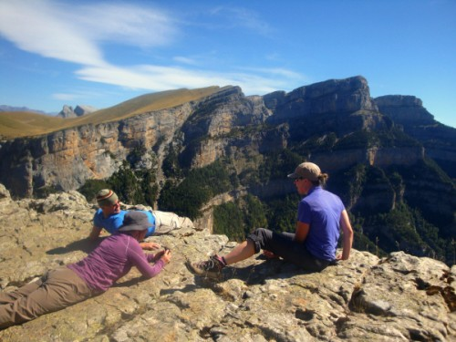 Relaxing on the rim of the Añisclo Canyon
