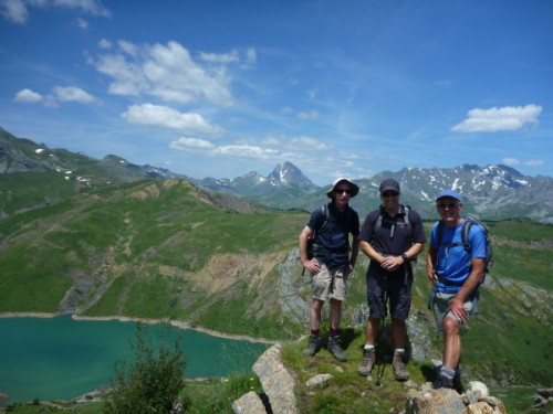 John, Ian and Alan on the summit of Punta Cochata