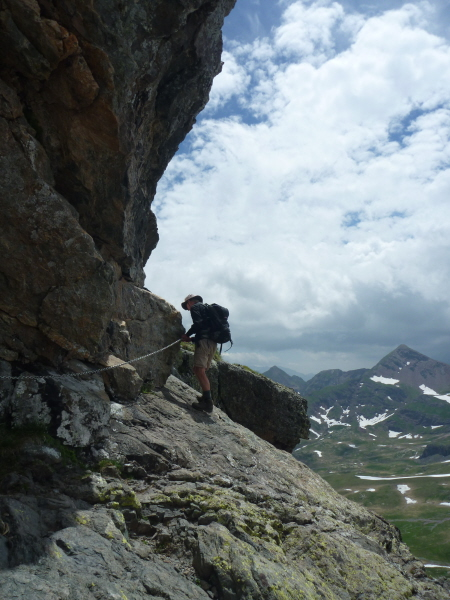 Tackling the chains of Pico Anayet - only for those with a good head for heights!