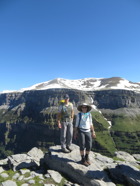 Ken and Madeline on the rim of Ordesa