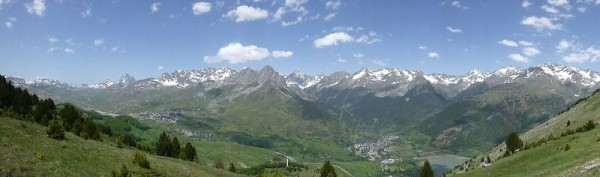 Views of the French Spanish Border from Collado Pacino