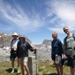 John, Beth, Jane and Cliff on the summit of Punta Balposata 2189m