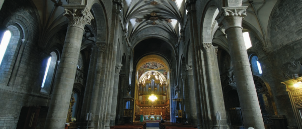 Interior of Jaca's Cathedral and the Main Altar