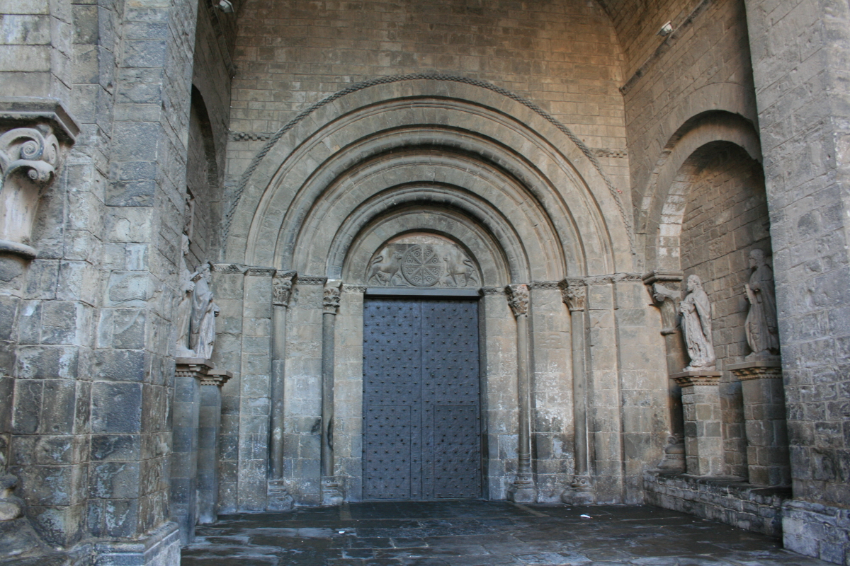 Entrance of the 11th century Jaca Cathedral