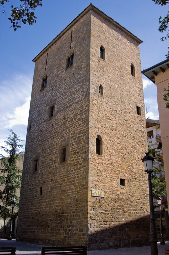 Clock tower in Jaca