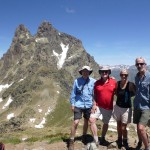 Summit success on Peyreget with Pic Midi d'Ossau behind