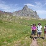 Sarah, Sally and Mikein front of Pico de Anayet