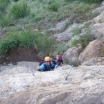 Phil and Gustavo tackling the via ferrata
