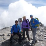 Arkaitz, Liz and Ken on the summit of Monte Perdido 3355m
