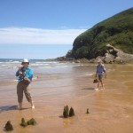 Getting sand between the toes in Zarautz