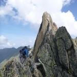 Ken enjoying the traverse of the Ecandies in Switzerland