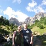 Karen and Corey hiking in Piedrafita