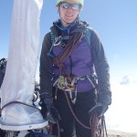 Me standing at the top of Gran Paradiso 4061m in Italy