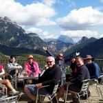 Final beer in Nerin at the end of our final hike of the week