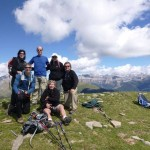 The team on the summit of Pelopin 2007m