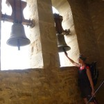 Ringing the belss on our way up Santa Erosia