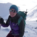 Hannah guiding in Glen Coe