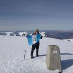 Marco from Guatemala on the summit of Ben Nevis