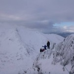 Enjoying 'Golden Oldie' on Aonach Mor