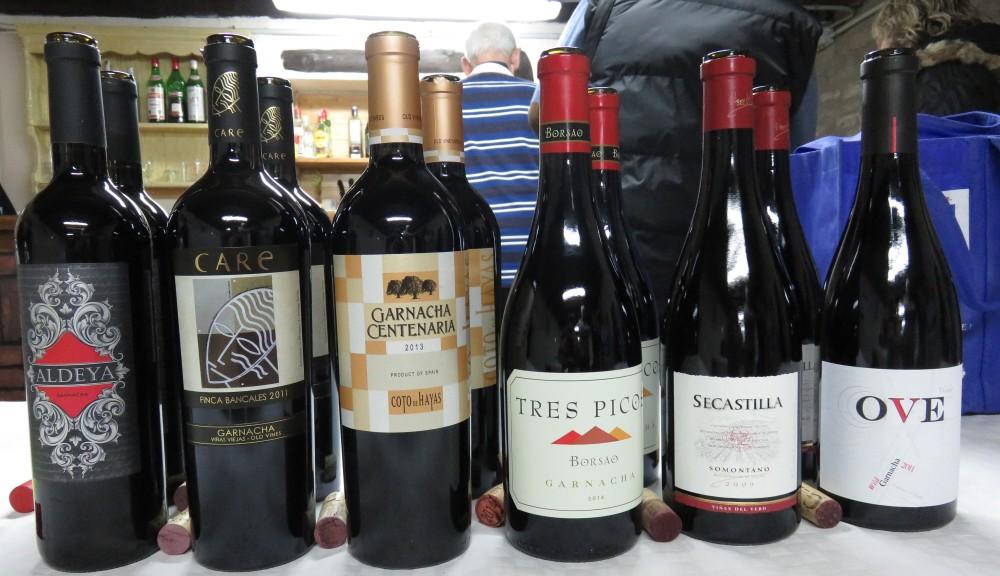 Grenache wine tasting