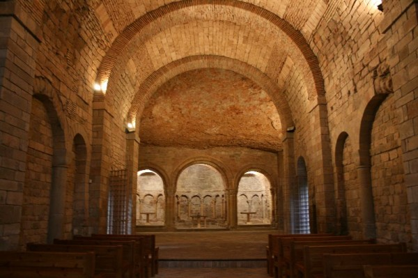 Romanesque upper church or 'Sala de Concilio'