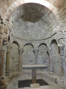 Inside of the pre-Romanesque church, oldest part of the monastery.