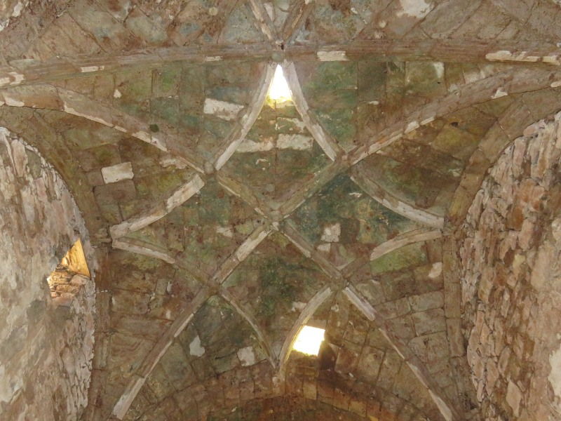 Roof of the Gotic church of Salinas viejo