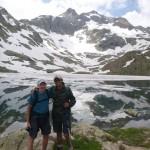 Brian and Raj at the Ibon Azul Inferior