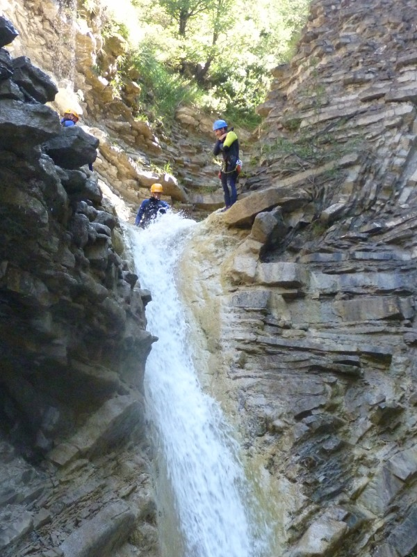 Canyoning-waterfall