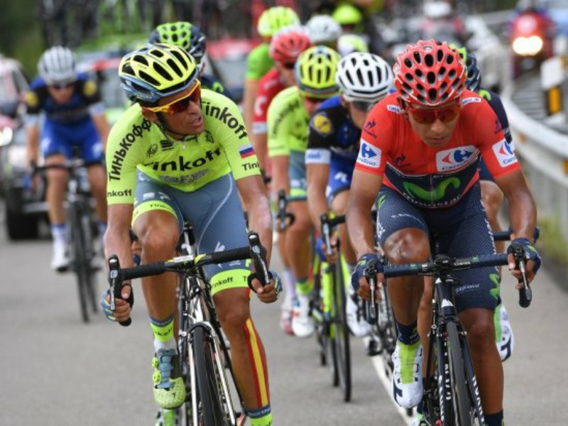 Contador and Quintana together in the breakaway