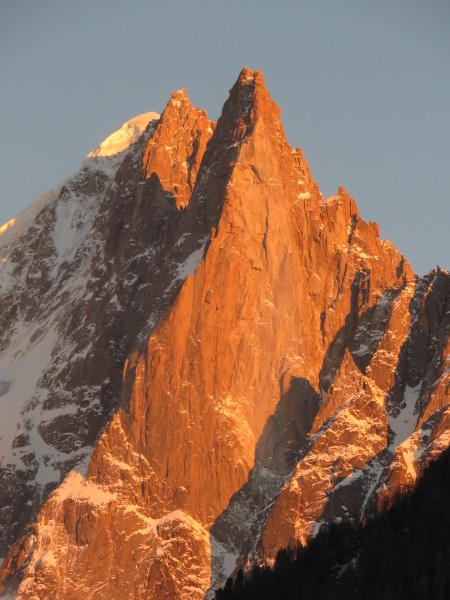 The Drus glowing red in the late afternoon sun