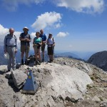 On the summit of Pena Montanesa 2295m