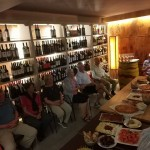An evening of sampling local foods and wine
