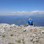 Jim on the summit of Pena Montanesa 2295m