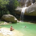 A picturesque swimming hole in the Valle de Sieste