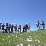 Hiking along a high ridge above the Pineta valley