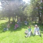 Enjoying a shady picnic at A Collada