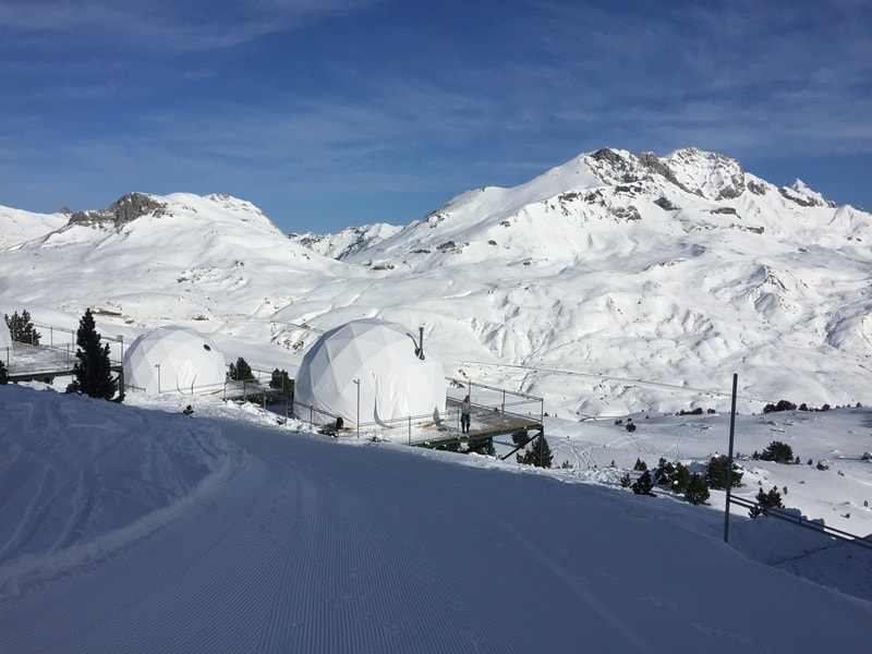 The new igloo hotel at Formigal