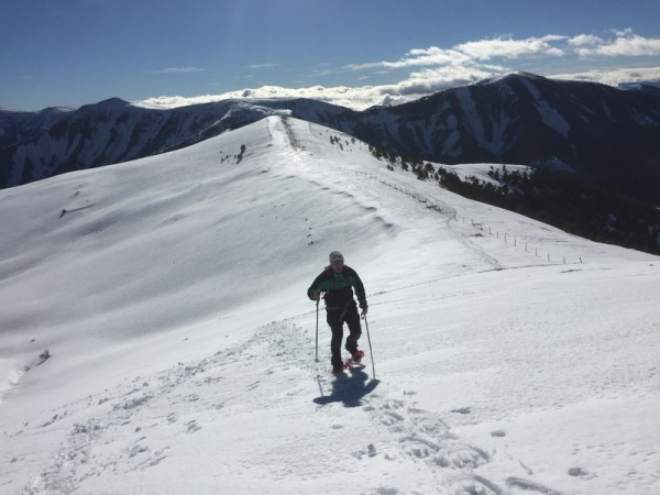 Snowshoeing from Cotefablo