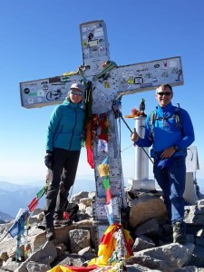 Phil and Hannah - Hike Pyrenees guides on the summit of Aneto
