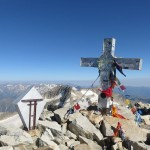 Aneto summit and cross
