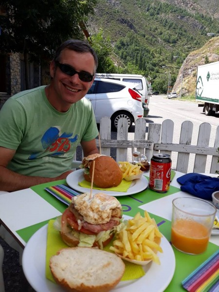 Refueling back in Benasque village before driving home